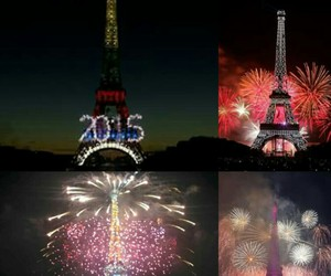 effeil tower, 2015, and bastille day image