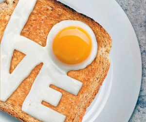 love, breakfast, and eggs image