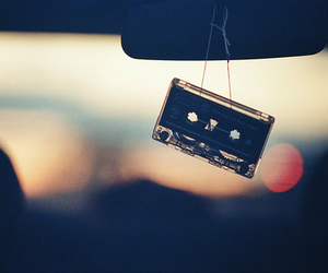 music, car, and casette image