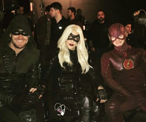 arrow, katie cassidy, and the flash image