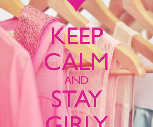 girly, pink, and keep calm image