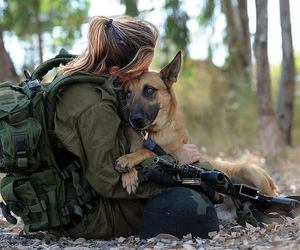 dog, soldier, and army image