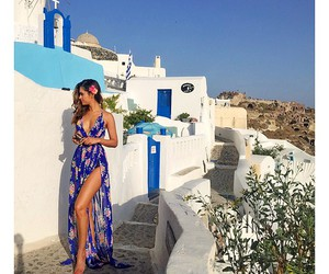 style and greece girl travel image