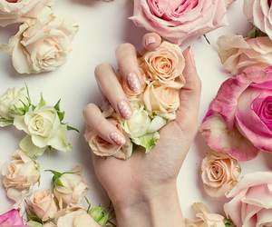 flowers, nail polish, and cute image