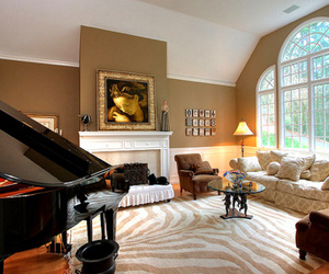 luxury, house, and piano image