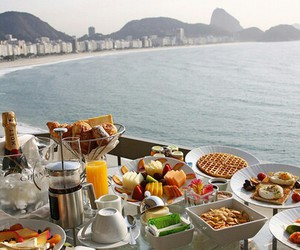 food, breakfast, and sea image