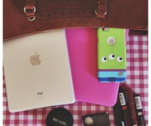 desk, mascara, and pastel image