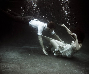 cool, underwater, and disheartened image