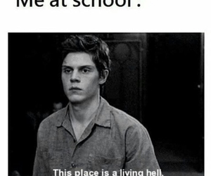 funny, school, and evan peters image