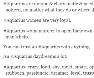 aquarius, horoscope, and true image
