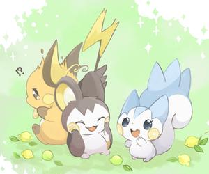 pokemon, pachirisu, and emolga image