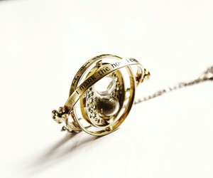 hermione granger, neckless, and time turner image