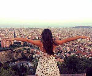 Barcelona, inlove, and sunset image