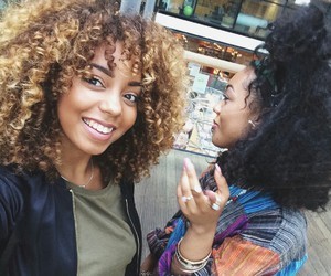 curly and blackgirl image