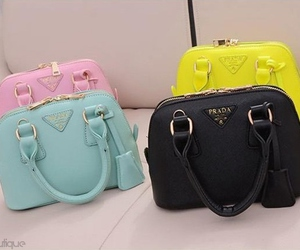 bags, pink, and blue image