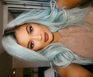 big lips, blue hair, and kardashians image