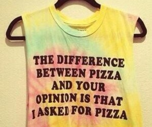 funny, pizza, and clothes image