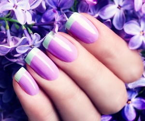 flowers, lilac, and nails image