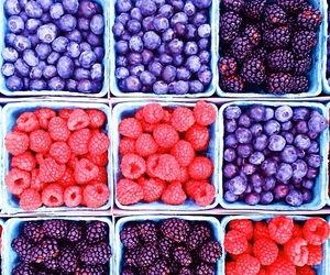 blueberry, raspberry, and berries image