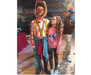 clown, on set, and brec bassinger image