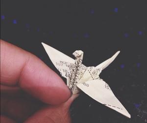bird, origami, and tsuru image