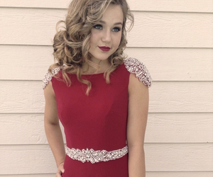 beauty, fancy, and red dress image