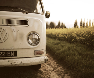 cars, hippie, and old image