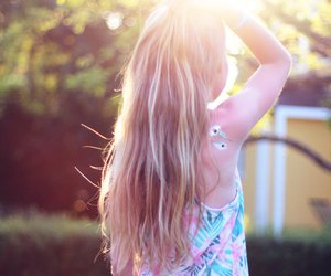 blonde, summer, and sun image