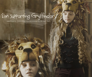 harry potter, luna lovegood, and hogwarts image