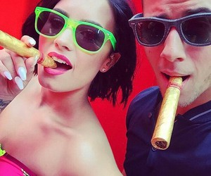 demi lovato, nick jonas, and cool for the summer image