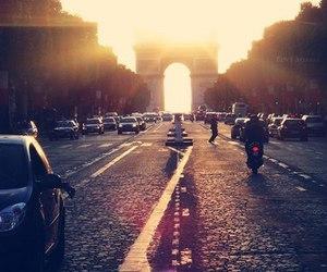 paris, city, and sun image