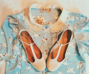 blue, girly, and shoes image