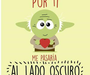 love, star wars, and yoda image
