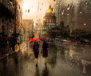 rain, london, and photography image