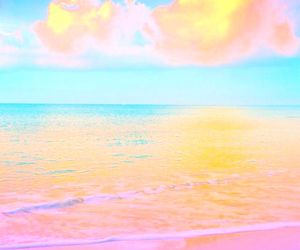 beach, blue, and color image