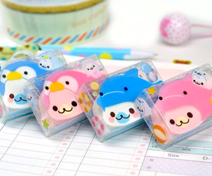 pink, blue, and cute image