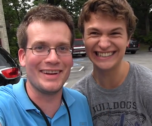 john green, the fault in our stars, and ansel elgort image