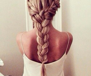 blond, plait, and cute image