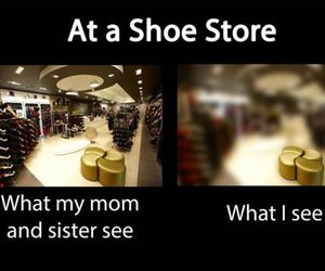 funny, shopping, and shoes image