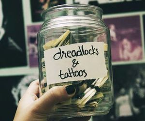 dreadlocks, tattoo, and money image