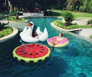 cool, watermelon, and donut image