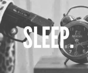 sleep, gun, and clock image