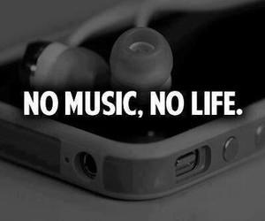 life, music, and no life image