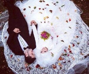 bride, groom, and happy image