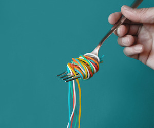 art, color, and fork image
