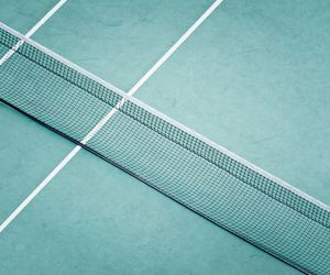 tennis court, tennis, and green image