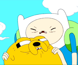 adventure time, finn the human, and jake the dog image