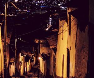 night, light, and street image