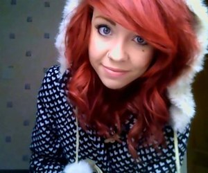 h4ils, girl, and red hair image