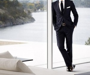 man, suit, and luxury image